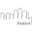 frankfort city one line drawing vector image vector image