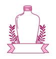 full color long mason jar with branches and ribbon vector image vector image