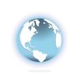 Glossy world globe vector image vector image