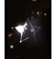 Glowing star in dark space vector image vector image