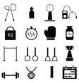gym icon set vector image vector image
