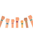 hand bracelet fitness gadget fitness tracker for vector image