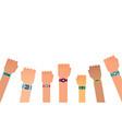 hand bracelet fitness gadget fitness tracker vector image