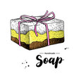 handmade natural soap hand drawn vector image vector image