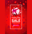 happy valentines day discount special holiday sale vector image