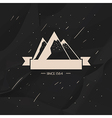 Label high snow capped mountains vector image vector image