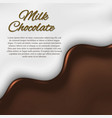 liquid chocolate background vector image vector image