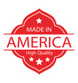 made in usa label 02 vector image vector image