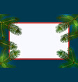 new year christmas green spruce branches on both vector image vector image