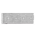 ordinary intersecting fret band is a pattern vector image vector image
