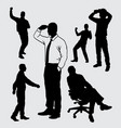 people gesture silhouette vector image vector image