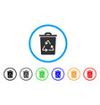 recycling bin rounded icon vector image
