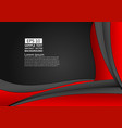 red and black color geometric abstract background vector image vector image