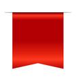 red bookmark banner 3d vertical book mark vector image