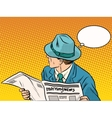 Retro man reading the morning news vector image vector image