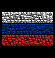russia flag pattern of waving flag items vector image