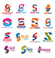 s letter corporate identity business icons vector image