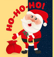 santa claus on background of night sky with stars vector image