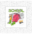 school sale backpack sneakers and vector image