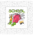 school sale backpack sneakers and vector image
