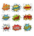 Set of bubble or bubbles speech vector image