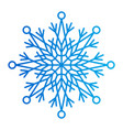 snowflake of blue colors vector image