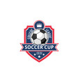 soccer college football cup ball badge icon vector image