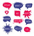 speech bubbles text thinking words and phrase vector image vector image