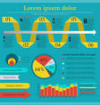 stylish infographics for your website or as a vector image vector image