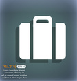 suitcase icon On the blue-green abstract vector image vector image