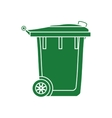 trash recycle organic ecology icon graphic vector image vector image