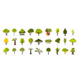 tree icon set flat style vector image vector image