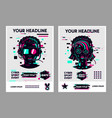 video game posters set gamer competition banners vector image vector image