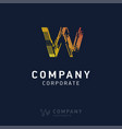w company logo design with visiting card vector image