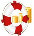 money icon of bank deposit vector image