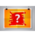 Question mark sign icon Help symbol Twice a vector image