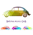 set of colorful retro car vector image