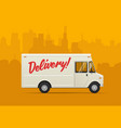 delivery truck flat styled vector image