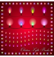 abstract of colorful lights on red background vector image vector image