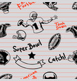 american football seamless marker doodle pattern vector image vector image