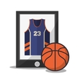 Ball of Basketball sport design vector image vector image