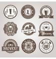 Beer labels set black vector image vector image