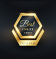 best choice badge and label design vector image vector image