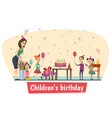 birthday celebration composition vector image vector image