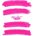 Bright pink marker stains set vector image vector image