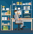 business man talking on the phone in office vector image