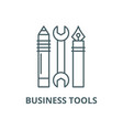 business tools line icon business tools vector image vector image