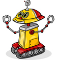 cartoon robot or droid vector image vector image