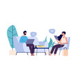 chatting couple persons in online conversations vector image vector image