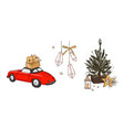 christmas holiday season tree december winter vector image